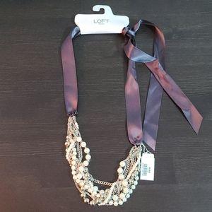 LOFT- Pearl Statement Necklace
